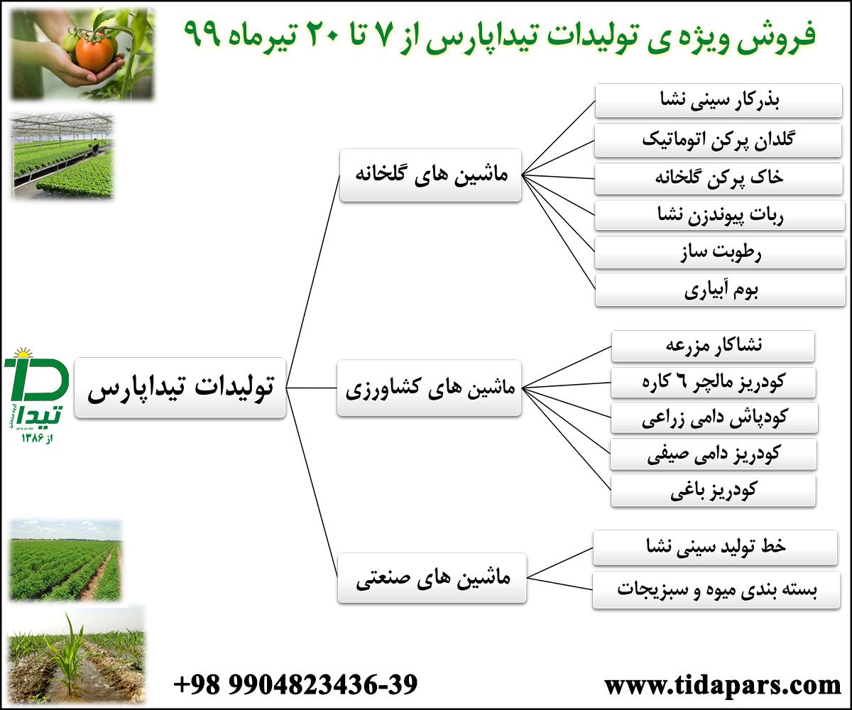تولیدات ماشین های گلخانه و کشاورزی تیداپارس